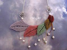Filigrana e dintorni: Bijoux Collar Macrame, Macrame Colar, Macrame Earrings, Micro Macrame, Macrame Jewelry, Tassel Necklace, Nursing Necklace, Diy And Crafts, Handmade Jewelry