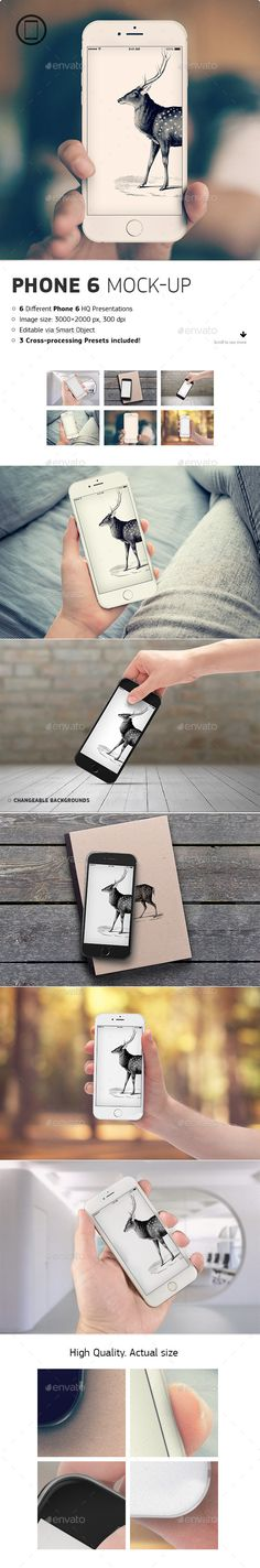 Realistic Phone 6 Mockup — Photoshop PSD #interface #web • Available here → https://graphicriver.net/item/realistic-phone-6-mockup/8893906?ref=pxcr