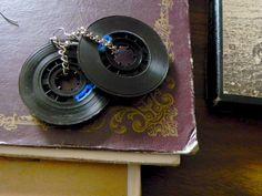 Old School Cassette Tape Earrings Black Black por MarinoByMarino