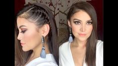 How to make easy hairstyles with braids Braided Hairstyles For School, Step By Step Hairstyles, Side Hairstyles, Braids Step By Step, Hair Fixing, Putting On Makeup, Different Hairstyles, Make It Simple, Curly Hair Styles