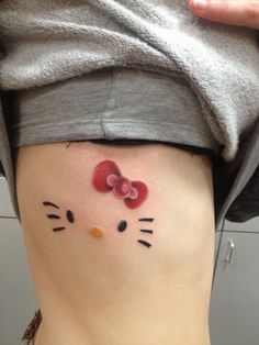 cute hello kitty tattoo (: But want waaaaaaaay smaller