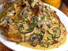 Slow Cooker Pork Chop Stroganoff   bakeatmidnite.com   #pork #stroganoff #slowcooker #crockpot