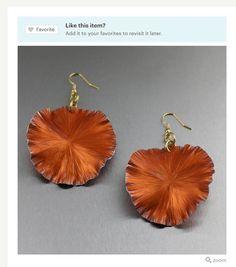 Hip Orange Lily Pad Aluminum Earrings Offered on #Etsy #Earrings #Handmade #Style https://www.etsy.com/listing/181746598
