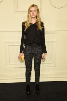 Nicola Peltz's Chanel ensemble. See 7 other celebrities whose early spring outfits killed it.