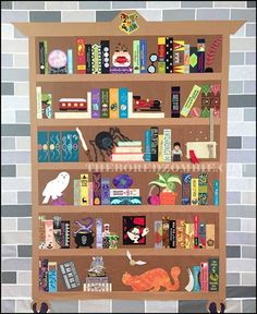 Harry Potter bookcase - The Project of Doom by The Bored Zombie