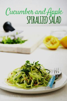CUCUMBER AND APPLE SPIRALIZED SALAD