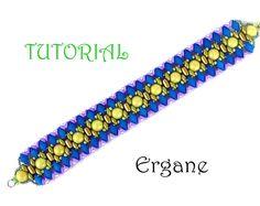 Obsession bracelet, racelet Beading Tutorial, Beaded Jewelry, Beading Pattern, Ergane Beading