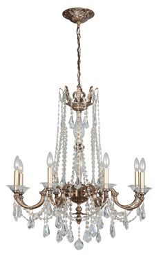 Eight Light Chandeliers  $1650,  $1500 on another site 6light version $980