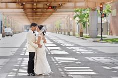 Chicago is filled with fabulous photo ops. Wedding Photographer: Angel Eyes Photography.