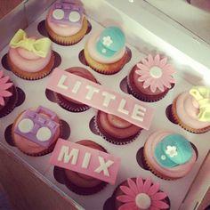 little mix wings cupcakes. xxx bows,flowers,caps,steroes. cute -------------------------------------------xxxxxxx