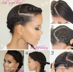 Cute Protective Hairstyles For Short Relaxed Hair Short Relaxed Hairstyles, Protective Hairstyles For Natural Hair, Natural Hair Updo, Pelo Natural, Afro Hairstyles, Natural Hair Styles, Professional Natural Hairstyles, Hairstyle App, Natural Hair Transitioning