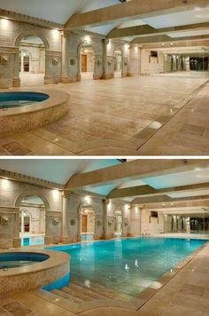 Hide-away swimming pool... I can always dream!