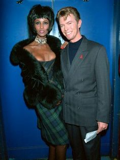 Mandatory Credit: Photo by Richard Young/REX/Shutterstock Iman and David Bowie AIDS Benefit Concert, London, Britain - 1993 Iman Bowie, Iman And David Bowie, David Bowie Starman, Angela Bowie, Mr And Mrs Jones, David Jones, Duncan Jones, Black Celebrities, Movies