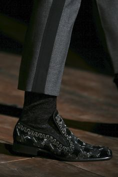 Dolce&Gabbana Men's Winter 2015 collection - I cannot think of a single stitch of clothing I own this would go with....