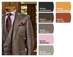 dapper purples plums warm tones browns taupes and violet manly suit palette nice for a home office scheme Paint colors from Chip It! by Sherwin-Williams #chipit #sherwinwilliams