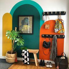 Home Room Design, Home Interior Design, House Design, Flur Design, Living Room Decor, Bedroom Decor, Bold Living Room, Colourful Living Room, Colourful Home