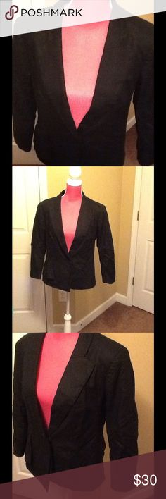 New York & Company Blazer. Black blazer. Side pocket details. Cute. Offers welcome New York & Company Jackets & Coats Blazers