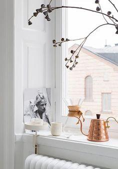 "silver-blonde: "" via saramedinalind "" Copper Interior, Interior And Exterior, Küchen Design, House Design, Interior Styling, Interior Decorating, Turbulence Deco, Silver Blonde, Style Deco"