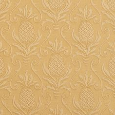 The K6635 GOLD/PINEAPPLE upholstery fabric by KOVI Fabrics features Beach or Nautical, Tropical pattern and Gold or Yellow as its colors. It is a Brocade or Matelasse, Damask or Jacquard type of upholstery fabric and it is made of 75% cotton, 25% polyester material. It is rated Exceeds 35,000 Double Rubs (Heavy Duty) which makes this upholstery fabric ideal for residential, commercial and hospitality upholstery projects. For help please Call 800-8603105.