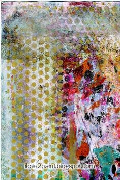 More gelli What do you think, should I stop?  hmmm... no, I will keep printing (≧◡≦) size 4x6 index card mono print for icad   index card a day