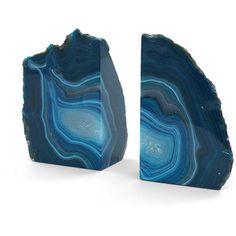 Mitchell Gold + Bob Williams Agate Blue Medium Bookend