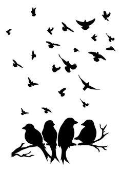 bird stencil 5 sizes craft fabric furniture wall art 125+190MICRON
