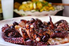 Kitchen Stories: Octopus Baked in Parchment Paper Octopus Carpaccio, Octopus Recipes, Truffle Mushroom, Recipe Paper, Baby Octopus, Sour Taste, Hottest Chili Pepper, Kitchen Stories