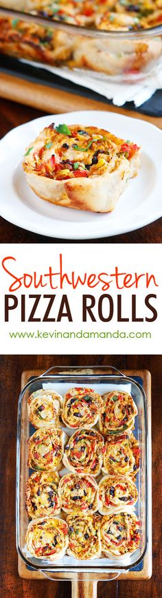 Southwestern Chicken Pizza Rolls - They are so good! They make me want to go back for seconds and thirds!
