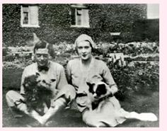 David Prince of Wales with mistress Thelma Morgan Furness. Twin sister of Gloria Morgan Vanderbilt. She asked her friend Wallis to take care of David while she was away ... the rest is history.