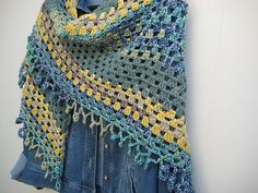 spend a morning with fanalaine on Ravelry for some of the most gorgeously colored crocheted shawls and scarves!
