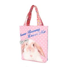 Kids Some Bunny Loves Me Tote Bag   Claire's