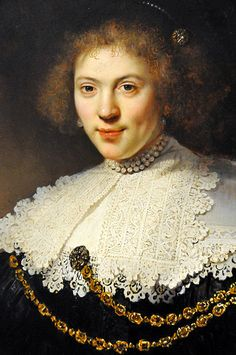 Rembrandt Harmenszoon van Rijn - Portrait of a Woman Wearing a Gold Chain