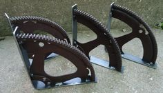 Gnarly & Unique Engine Gear Shelf Brackets #RusticPrimitive