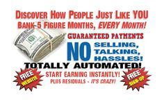 No selling or talking. Get paid daily with Free website with this automated system Best Home Business, Online Business, Business Ideas, Internet Marketing, Online Marketing, Help Wanted, Make Easy Money, Free Sign, Free Ads