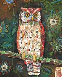 Moonlit Perch Owl art by Lori Siebert by LoriSiebertStudio on Etsy