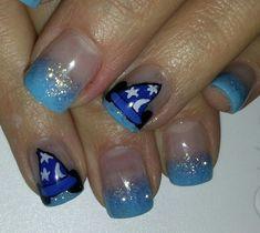 Disney nails - Fantasia - Mickey - Blue