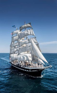 """Trois-mâts barque """"Belem"""", Nantes (France) will be  for the Tall Ships Races Be part of this adventure // Get on board! Moby Dick, Uss Constitution, Old Sailing Ships, Wooden Ship, Yacht Boat, Set Sail, Ship Art, Tall Ships, Cruises"""