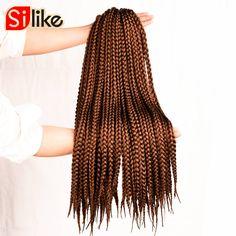 "Hot ! ! ! 12"" 18"" 22"" Synthetic Hair Jumbo Crochet Box Braids 90G/Pack Crochet Braiding Hair 12 Roots Micro Braid Extensions"