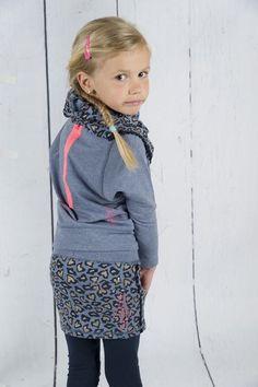 Quapi, rok Cocky panter petrolblauw, 86/92-158/164, €29,95 kinderkleding online, http://www.blauwlifestyle.nl/nl/kinderkleding.html?merken=153