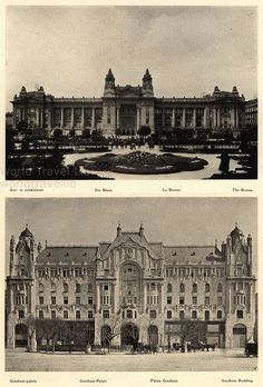 The Bourse and Gresham Palace (today a Hotel manage by Four Seasons), Hungary - Értéktőzsde / Börse - Gresham palota / Palais Gresham / Schloss Gresham Central Europe, Budapest Hungary, Four Seasons, Louvre, History, Architecture, Antiques, City, Arquitetura