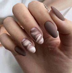 Perfect Nails, Gorgeous Nails, Pretty Nails, White Acrylic Nails, Best Acrylic Nails, Pastel Nails, Oval Nails, Oval Nail Art, Matte Nail Art