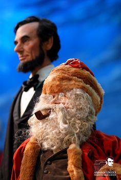The Abraham Lincoln Presidential Library Foundation (ALPLF) Vintage Santa Claus, Vintage Santas, Abraham Lincoln Presidential Library, Santa Claus Figure, January 2nd, Springfield Illinois, Us Presidents, Exhibit, Museum