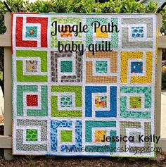 Free Quilt Pattern and Tutorial - Jungle Path Baby Quilt by sherrie