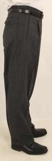 Shop the latest wide leg pants on the world's largest fashion site. Mens Wide Leg Trousers, Mens Slacks, Rockabilly Outfits, Rockabilly Clothing, Pinstripe Suit, Fashion Sites, Pleated Pants, Hollywood Fashion, Stylish Men