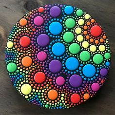 dot day art projects (Update: the auction is over. Thanks to all who placed bids!) The votes are in and here is the winning ORB! This 6 diameter acrylic on Rock Painting Patterns, Rock Painting Ideas Easy, Dot Art Painting, Rock Painting Designs, Mandala Painting, Pebble Painting, Pebble Art, Stone Painting, Mandala Painted Rocks