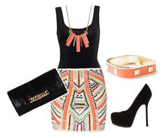 Tribal by honeybee20 on Polyvore featuring polyvore fashion style mbyM River Island Yves Saint Laurent Marc by Marc Jacobs Lori's Shoes