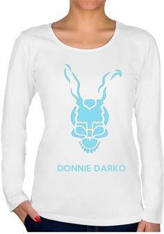 Donnie Darko 01 Kendin Tasarla - Bayan U Yaka Tişört - Uzun Kollu
