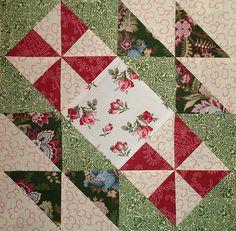 Pinwheel Crazies 2010 Block 1 minus pinwheel border 004 by Happy 2 Sew, via Flickr