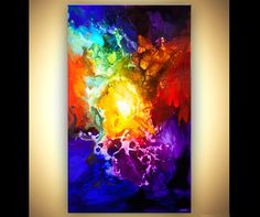 Large Colorful Abstract Painting Original Modern by OsnatFineArt, $3600.00