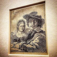 Self portrait with Saskia '  Rembrandt , 1636 . • Etching . • 'Rembrandt at the Vatican - Images From Heaven and Earth' . From 23 Nov 2016 to 26 Feb 2017 , Vatican Museums , Rome. • • • #Miles7one #Rembrandt #nex7 #VaticanMuseum #dutch #Miles7one #nx7 #wanderlus7 #roma #rome #iglazio #igersroma #visitroma #loveroma #igerslazio #VisitRome #ar7e #artgallery #art #arte #artist #artoftheday #arts #artwork #artistic #artgallery  #artofvisuals #artists #artlife #artlover #museum #museums